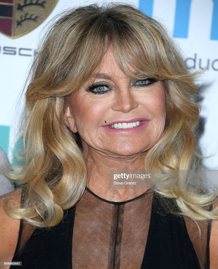 Goldie Hawn arrives at the Goldie's Love In For Kids at Ron Burkle's Green Acres Estate on November 3, 2017 in Beverly Hills, California.
