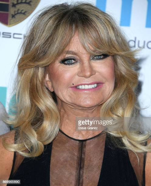 Goldie Hawn arrives at the Goldie's Love In For Kids at Ron Burkle's Green Acres Estate on November 3 2017 in Beverly Hills California