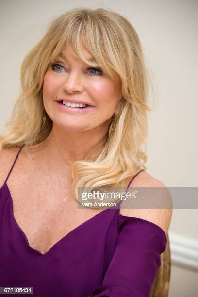 Goldie Hawn at the 'Snatched' Press Conference at the Fairmont Hotel on April 22 2017 in Santa Monica California