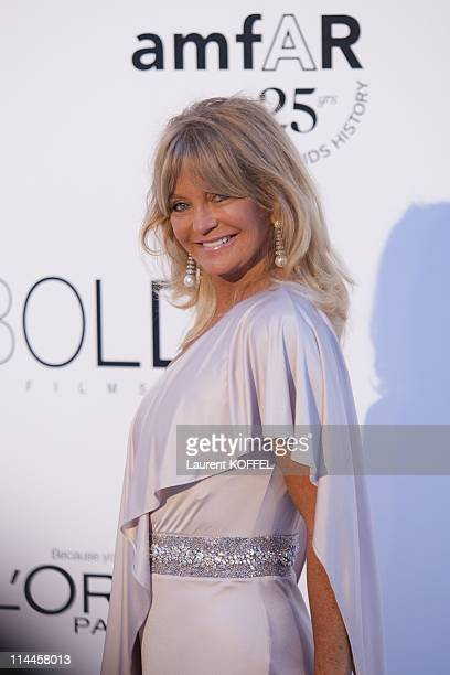Goldie Hawn attends amfAR's Cinema Against AIDS Gala during the 64th Annual Cannes Film Festival at Hotel Du Cap on May 19 2011 in Antibes France