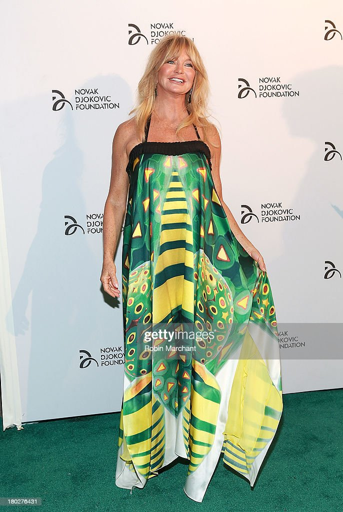 Goldie Hawn attends the 2013 Novak Djokovic Dinner at Capitale on September 10, 2013 in New York City.