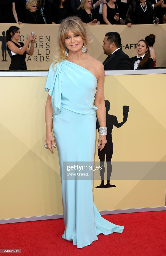 Goldie Hawn attends the 24th Annual Screen Actors Guild Awards at The Shrine Auditorium on January 21, 2018 in Los Angeles, California.