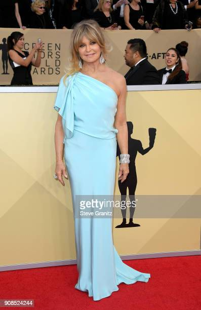 Goldie Hawn attends the 24th Annual Screen Actors Guild Awards at The Shrine Auditorium on January 21 2018 in Los Angeles California