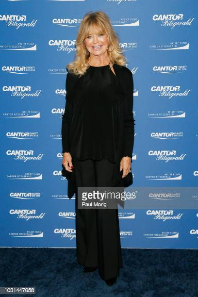 Goldie Hawn attends the Annual Charity Day hosted by Cantor Fitzgerald BGC and GFI at Cantor Fitzgerald on September 11 2018 in New York City