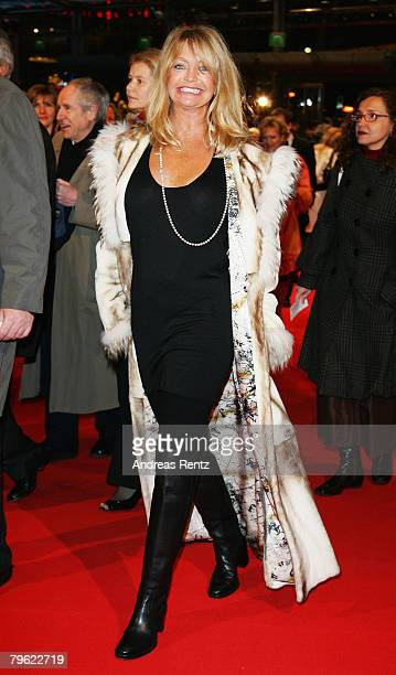 Goldie Hawn attends the 'Shine A Light' Premiere as part of the 58th Berlinale Film Festival at the Berlinale Palast on February 7 2008 in Berlin...