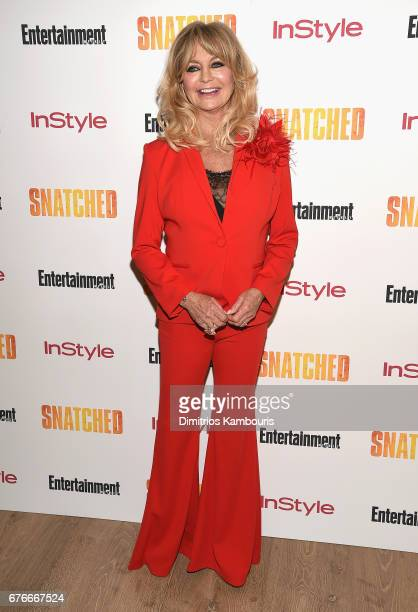 Goldie Hawn attends the 'Snatched' New York Premiere at the Whitby Hotel on May 2 2017 in New York City
