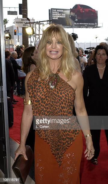 Goldie Hawn during Opening Night of The Producers Red Carpet at Pantages Theatre in Hollywood California United States