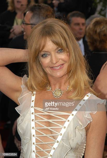 Goldie Hawn during The 60th Annual Golden Globe Awards Arrivals at Beverly Hilton Hotel in Beverly Hills CA United States