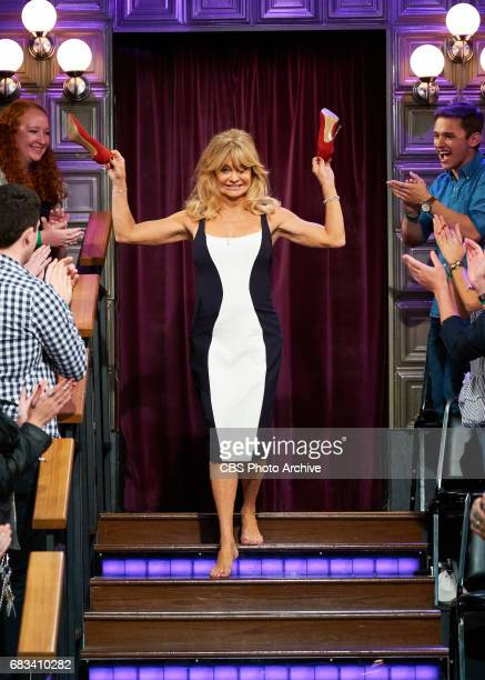 Goldie Hawn greets the audience during 'The Late Late Show with James Corden' Thursday May 11 2017 On The CBS Television Network