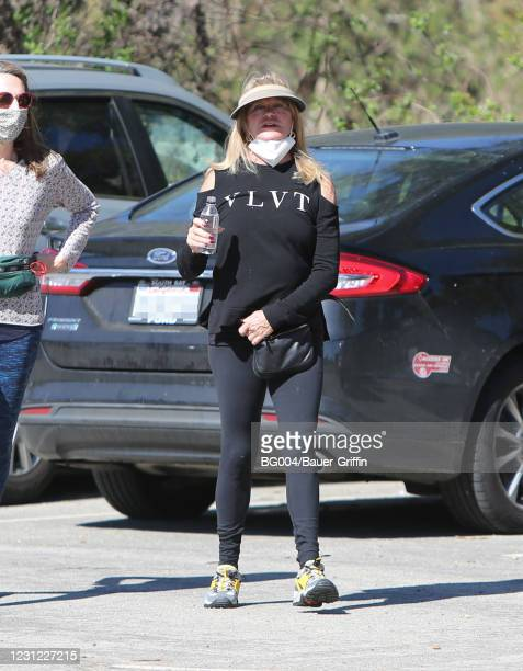 Goldie Hawn is seen on February 17, 2021 in Los Angeles, California.