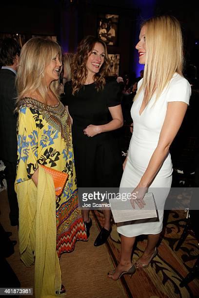 Goldie Hawn Julia Roberts and Gwyneth Paltrow attend the 3rd annual Sean Penn Friends HELP HAITI HOME Gala benefiting J/P HRO presented by Giorgio...