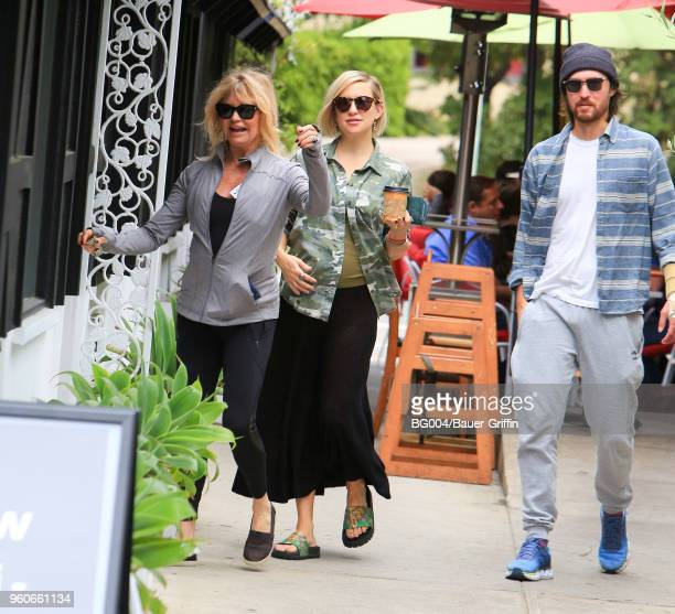 Goldie Hawn Kate Hudson and Danny Fujikawa are seen on May 20 2018 in Los Angeles California