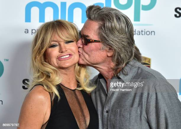 Goldie Hawn Kurt Russell attend Goldie's Love In For Kids at Ron Burkle's Green Acres Estate on November 3 2017 in Beverly Hills California