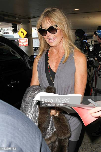 Goldie Hawn seen at LAX on January 27 2015 in Los Angeles California