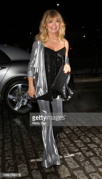 Goldie Hawn seen attending Goldie's Love In For The Kids charity fundraiser at Annabel's on November 12 2018 in London England