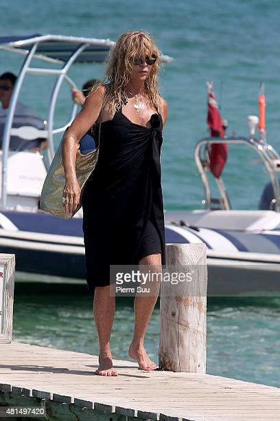 Goldie Hawn sighted at club 55 on July 21 2015 in SaintTropez France