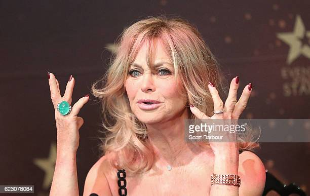Goldie Hawn speaks during a press conference to launch her MindUP program on November 14 2016 in Melbourne Australia