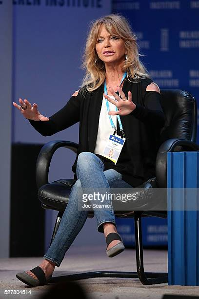 Goldie Hawn speaks onstage at the 2016 Milken Institute Global Conference on May 03 2016 in Beverly Hills California