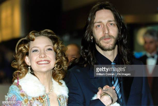Goldie Hawn's daughter actress Kate Hudson with her husband singer Chris Robinson of rock group the Black Crowes during The Orange British Academy...