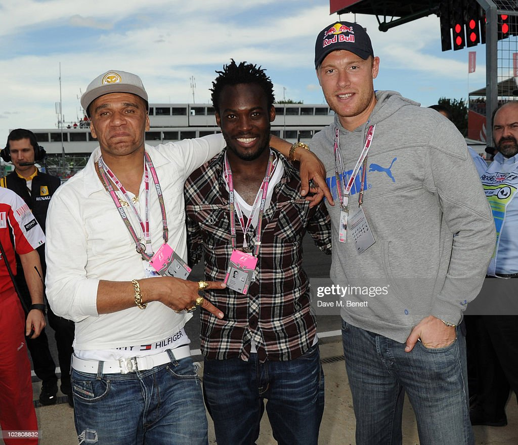 Celebrities Attend Formula One British Grand Prix