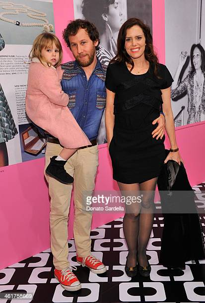 Goldie Priya Lee musician Ben Lee and actress Ione Skye attend Diane Von Furstenberg's Journey of A Dress Exhibition Opening Celebration at May...