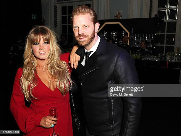 Goldierocks and Alistair Guy at Warner Belvedere Post BRIT Awards party at The Savoy Hotel on February 19 2014 in London England
