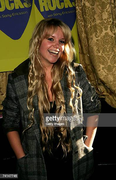 Goldierocks arrives at the Ibiza Rocks with Sony Ericsson launch party at The Lock Tavern Camden on May 14 2007 in London England The music event is...