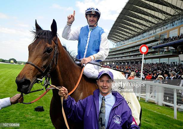 Goldikova and Olivier Peslier win The Queen Anne Stakes on the 1st day of Royal Ascot at Ascot racecourse on June 15 2010 in Ascot England