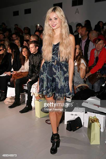 Goldilocks attends the Bora Aksu show at London Fashion Week AW14 at Somerset House on February 14 2014 in London England