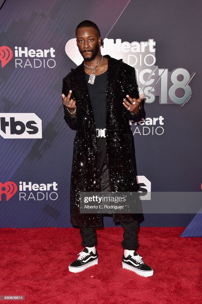 GoldLink arrives at the 2018 iHeartRadio Music Awards which broadcasted live on TBS, TNT, and truTV at The Forum on March 11, 2018 in Inglewood, California.