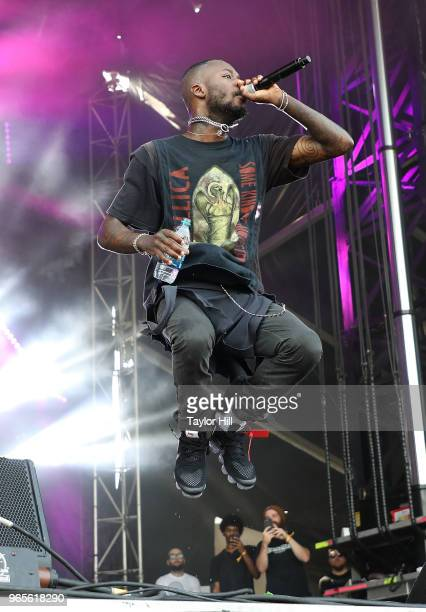 GoldLink performs onstage during Day 1 of 2018 Governors Ball Music Festival at Randall's Island on June 1 2018 in New York City