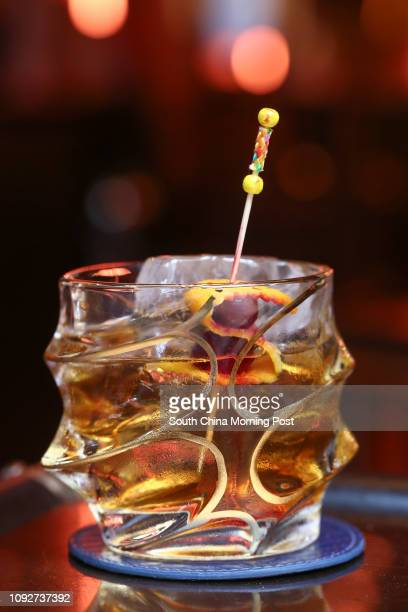 Goldman Rum Fashioned by IQ Bar, at 27-37 D'aguilar Street, Lan Kwai Fong in Central. 17JAN17 [20JANUARY2017BAR REVIEW FEATURES] SCMP/Jonathan Wong
