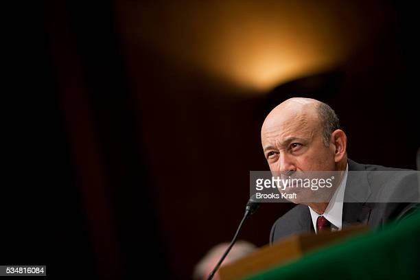 Goldman Sachs Chairman and CEO Lloyd Blankfein testifies before the Senate Homeland Security and Governmental Affairs Investigations Subcommittee...