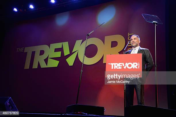 Goldman Sachs Chief Information Officer Marty Chavez speaks onstage during the Trevor Project's 2014 'TrevorLIVE NY' Event at the Marriott Marquis...