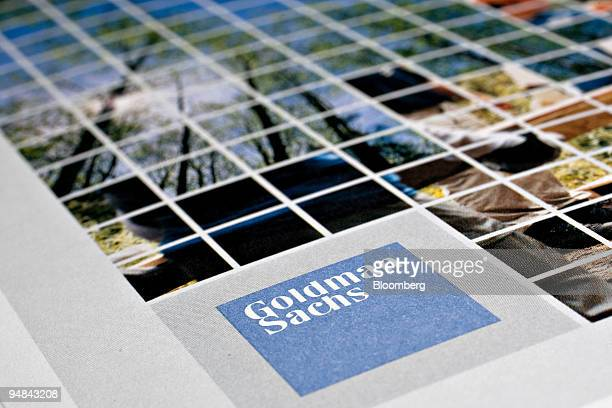 Goldman Sachs Group Inc annual report is arranged for a photograph in New York US on Monday June 16 2008 Goldman Sachs Group Inc reports their...