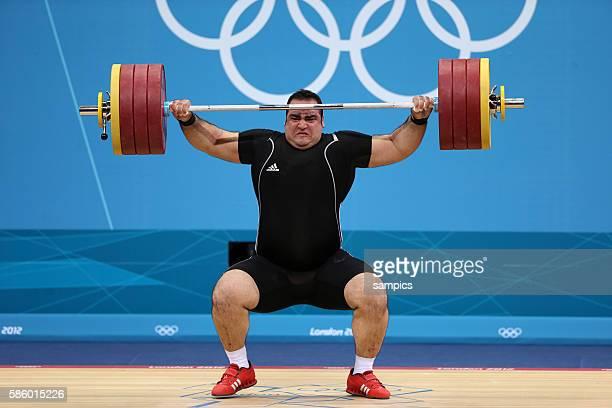 Goldmedaille für Behad SALIMIKORDASIABI Olympische Sommerspiele 2012 London Gewichtheben Männer 100kg Finale ExCel Hall Olympic Summer Games 2012...