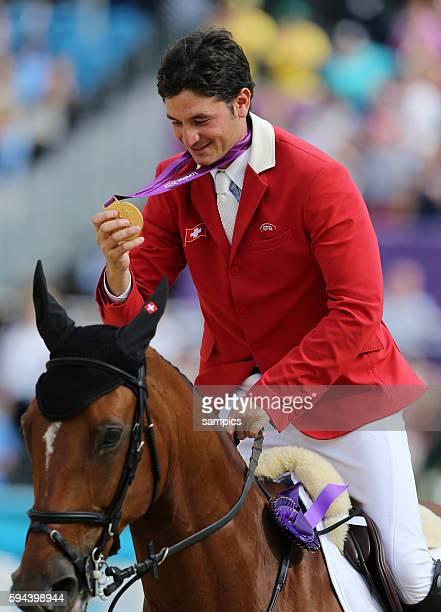 Goldmedaille für Steve Guerdat mit Nino des Buissonnettes Olympische Sommerspiele 2012 London Springreiten Einzel Greenwich Park Olympic Summer Games...
