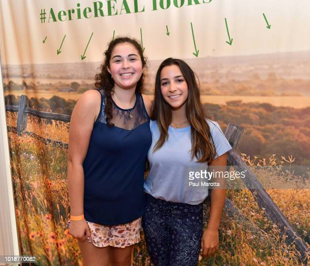 GoldMedalist Aly Raisman greets fans at Pin Aerie's Real Talk At Natick Mall on August 18 2018 in Natick Massachusetts