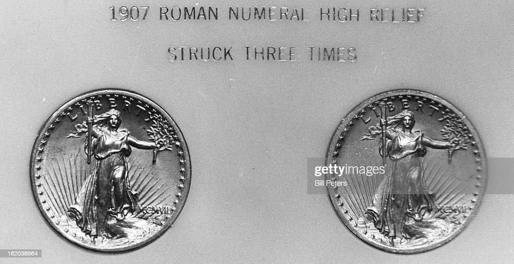 2-1980, FEB 4 1980; #20 Goldpiece; 1907 Roman numeral high relief.; : News Photo