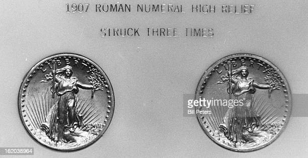 Goldpiece 1907 Roman numeral high relief