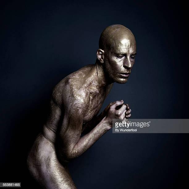 goldrush - cuerpo pintado fotografías e imágenes de stock