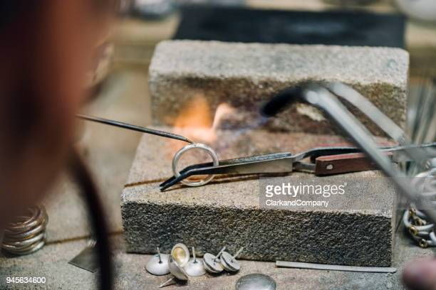 goldsmith at work. - jewellery stock pictures, royalty-free photos & images