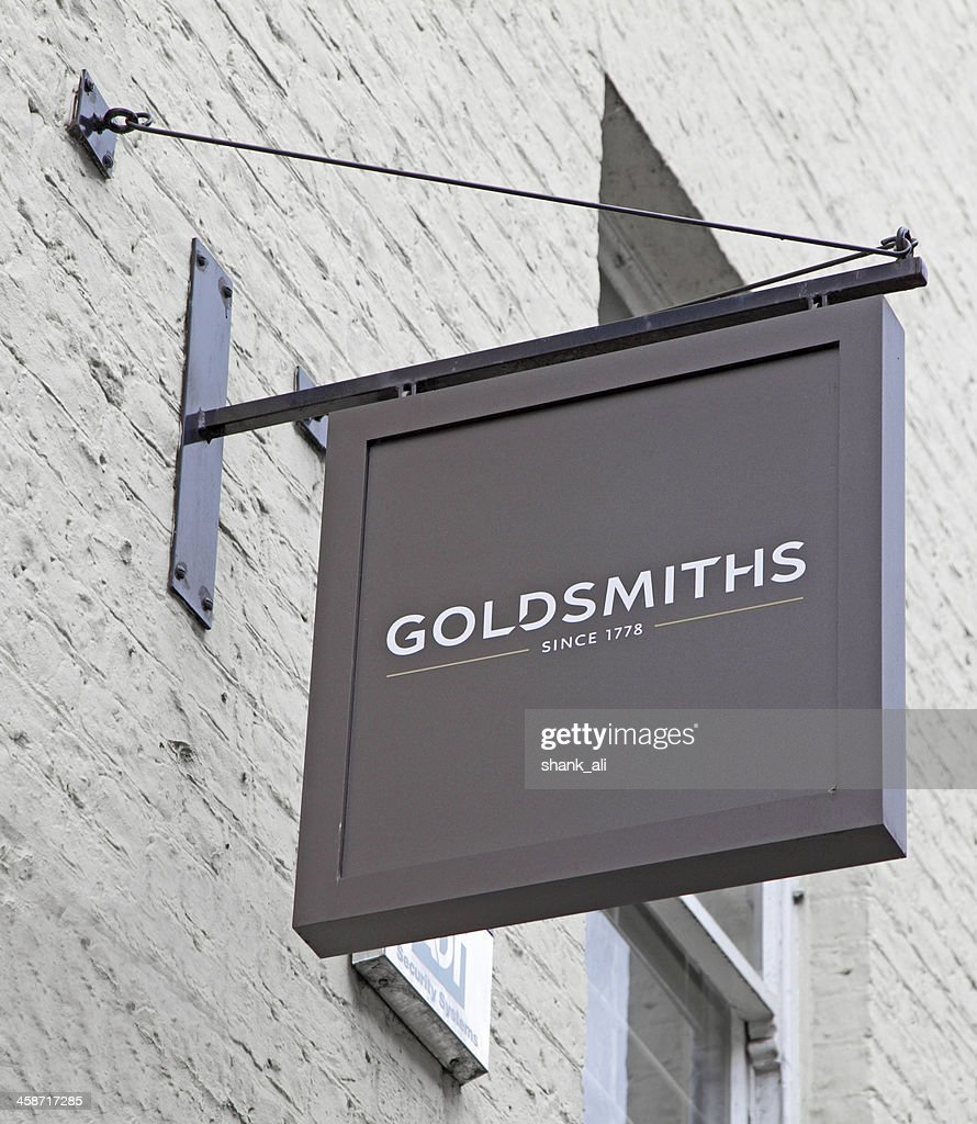 goldsmiths the jewelers sign : Stock Photo