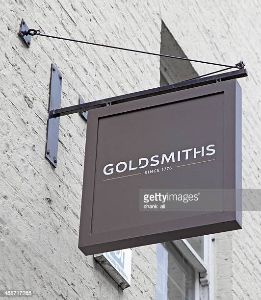 goldsmiths the jewelers sign - jeweller stock photos and pictures