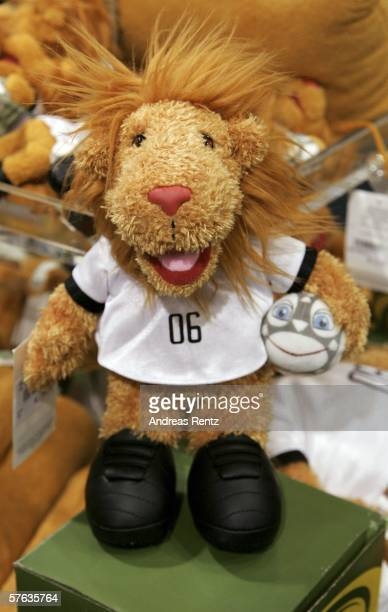 Goleo the official FIFA 2006 World Cup mascot is seen in a shop on May 17 2006 in Berlin Germany NICI AG the manufacturer of the Goleo mascot has...
