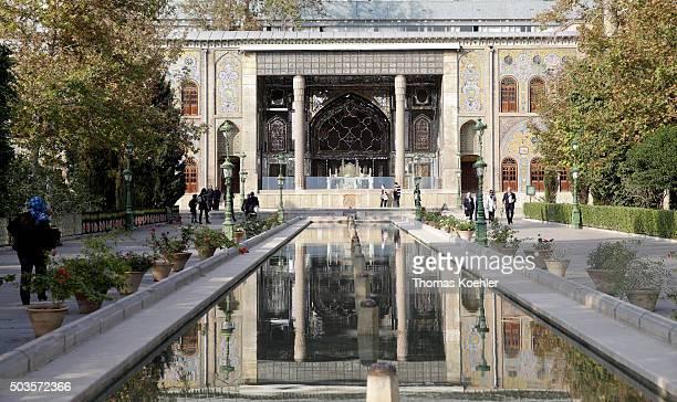 Golestan Palace on October 18 2015 in Tehran Iran