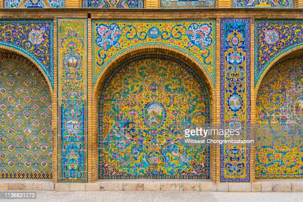 golestan palace - palace stock pictures, royalty-free photos & images