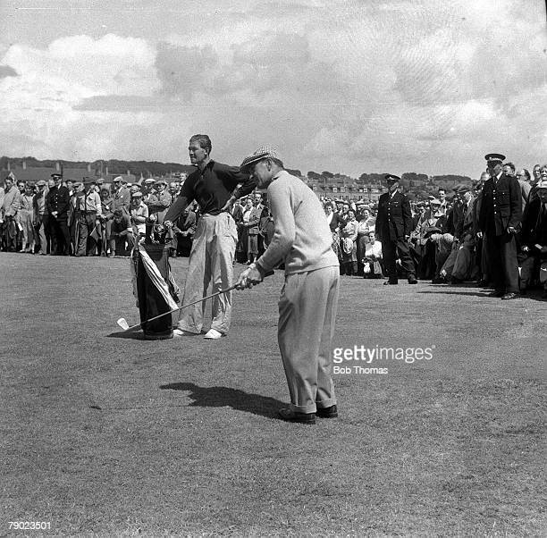 Golf 1953 British Open Golf Championship Carnoustie USA's Ben Hogan 1953 Open Champion plays a shot on his way to becoming the Open Champion
