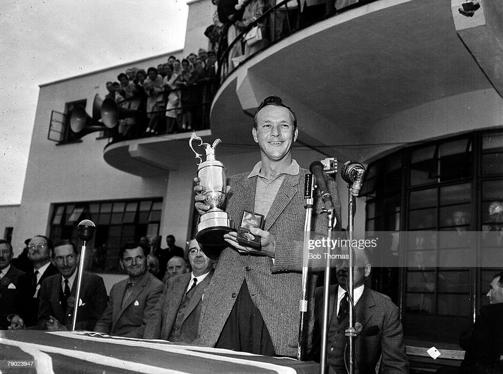Golf. 1961 British Open Golf Championship. Royal Birkdale.The 1961 Champion U.S.A.+s Arnold Palmer with the Claret Jug . July 1961. : News Photo