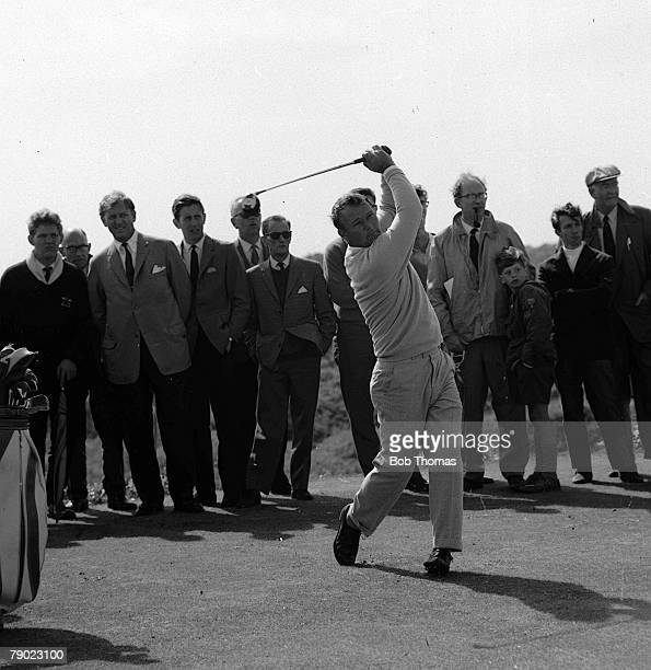 Golf 1965 British Open Golf Championship Royal Birkdale Lancashire USA's Arnold Palmer hits a drive from the tee